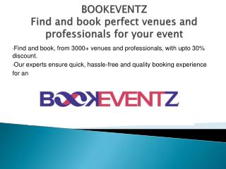 BookEventZ - Find and book perfect venues and professionals for your event