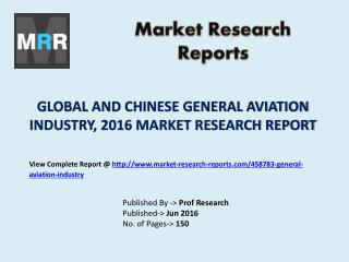 General Aviation Market Development Trends Estimated from 2016 to 2021 Research Report