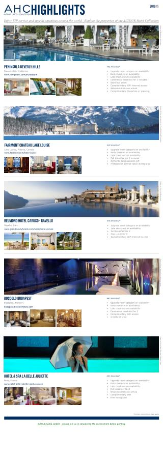 Altour Hotel Collection Highlights