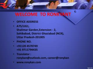 Translation Agency in Delhi | Low Cost Language translator in Gurgaon - Ronykan.com