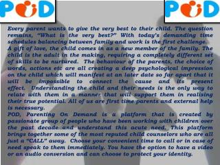 Parenting on Demand Adviser