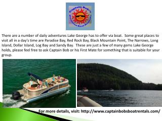 Party Boat Rental Lake George, NY