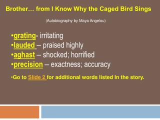 Brother  from I Know Why the Caged Bird Sings