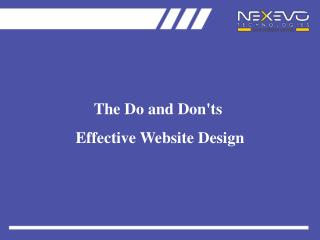 Do and Don'ts of Website Design