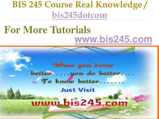 BIS 245 Course Real Tradition,Real Success / bis245dotcom