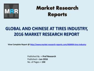 Global AT Tires Market Revenue and Growth Rate with Chinese Industry Published in 2016 Report