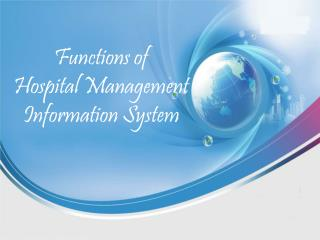 Functions of Hospital Management InformationSystem