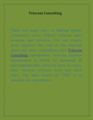 Telephone Consulting