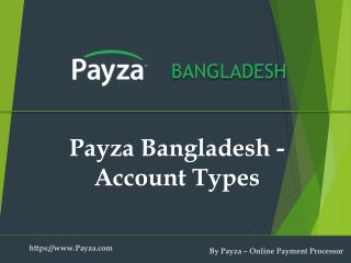Payza Bangladesh Personal and Business Account Types