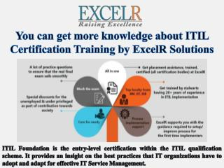 You can get more knowledge about itil certification training by excel r solutions