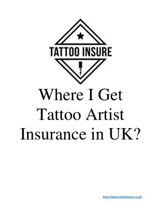 Tattoo Shop Insurance