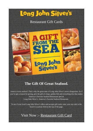 Restaurant Gift Card - Long John Silver's