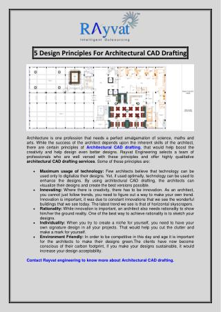 5 Design Principles For Architectural CAD Drafting