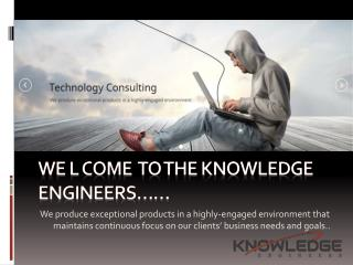 Welcome to the knowledge Engineer