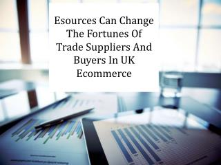 Esources Can Change The Fortunes Of Trade Suppliers And Buyers In UK Ecommerce