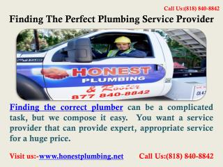 Los Angeles Plumber | Call us at (818) 840-8842