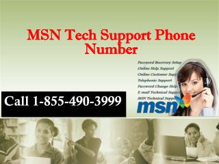 1-855-490-3999 MSN Tech Support Phone Number
