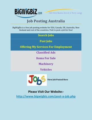 Job Posting Australia