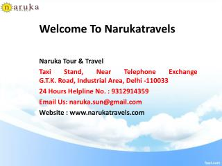 Tempo Traveller on  Best Rent in Delhi | Tempo Traveller in Delhi - Narukatravels.com