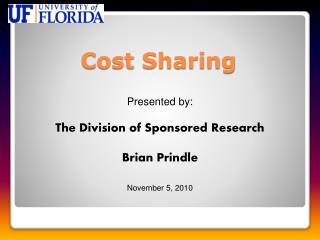 Cost Sharing