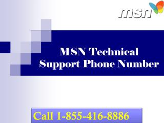 1-855-416-8886 Msn technical support phone number