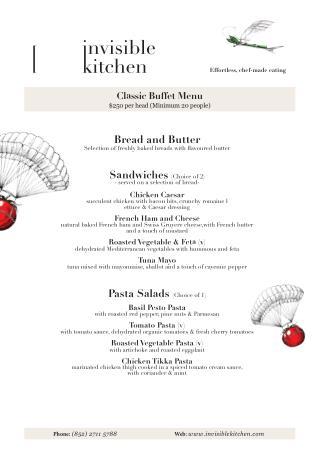 Catering | Invisible Kitchen Hong Kong - Classic Buffet Menu 2016