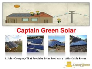 Captain Green Solar - Saving Electricity Bills