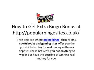How to Get Extra Bingo Bonus At Popular Bingo Sites UK