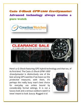 Casio G-Shock GPW-1000 Gravitymaster: Advanced technology always creates a pure watch