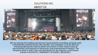 Solution inc mix series