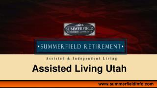 Senior Citizen Retirement Communities In Utah