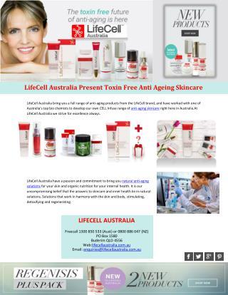 LifeCell Australia Present Toxin Free Anti Ageing Skincare