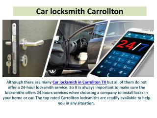 Car locksmith Carrollton