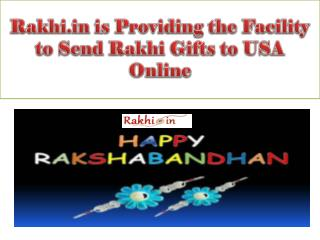 Rakhi.in is Providing the Facility to Send Rakhi Gifts to USA Online