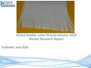 Rubber Latex Thread Market : InternationalIndustry Analysis