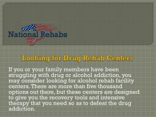 Know More About of  About Prescription Drug Rehab Centers