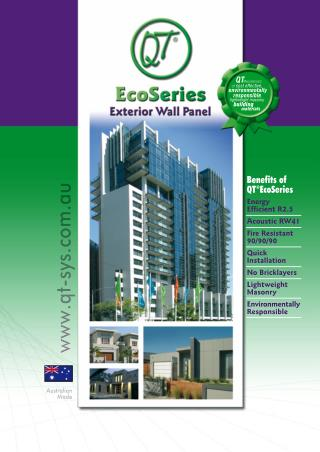 Eco Series Exterior Wall Panel
