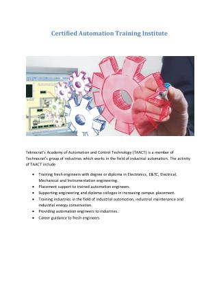 Certified Automation Training Institute