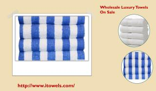 Wholesale Luxury Towels On Sale.