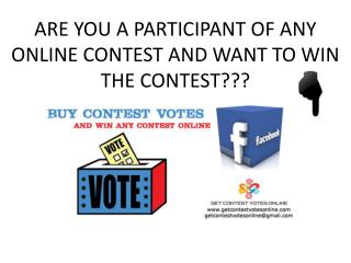 Buy Online Votes | Buy Contest Votes | Buy Facebook Votes | Get Online Votes