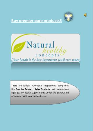 Buy premier pure products