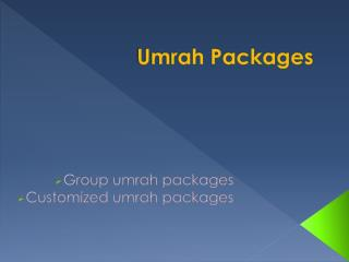 Umrah Packages 2016