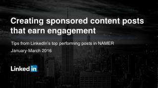 Creating Sponsored Content Posts that Earn Engagement