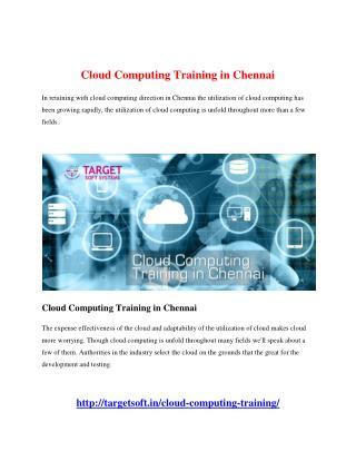 Cloud Computing Training in Chennai