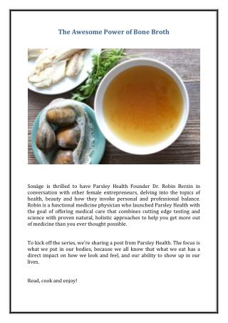 The Awesome Power of Bone Broth