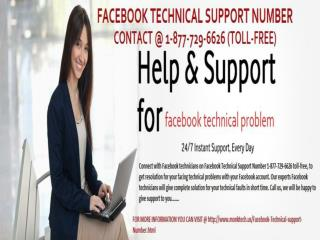 Get Facebook Tech Support @ 1-877-729-6626 Toll-Free