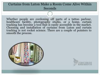 Curtains from Luton Make a Room Come Alive Within Seconds