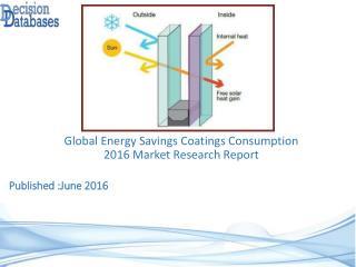 International Energy Savings Coatings Consumption Market 2016-2021