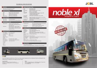 Noble-XL: JCBL manufactured Luxury Bus