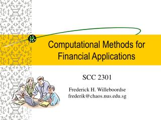 Computational Methods for Financial Applications